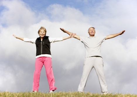 Active Seniors exercising